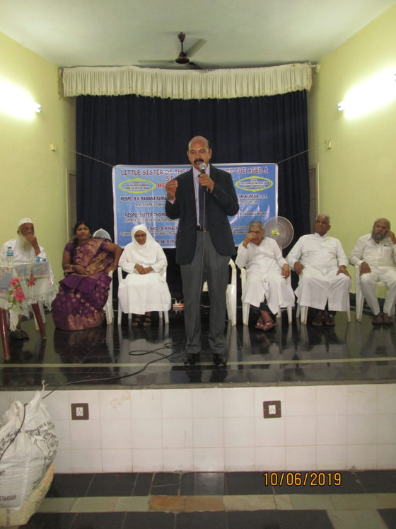 The visit of Mr. S.M. Sirajuddin, a member of SANGHAMITRA in Guntur