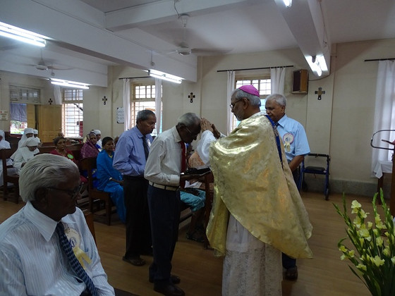 The Residents Day celebrated with Bishop Savio Dominic Fernandes of                         Mumbai!