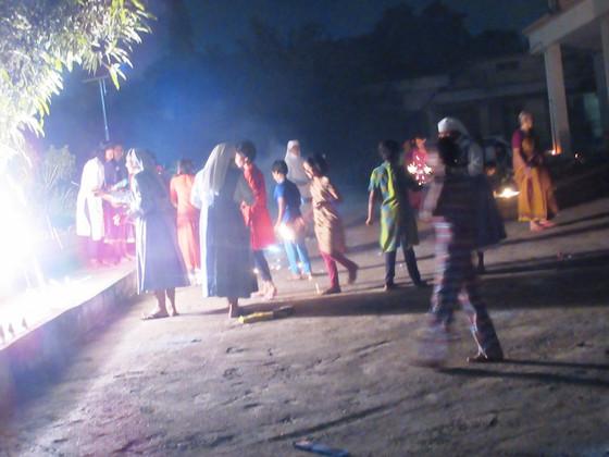 Diwali celebration by the elderly           Residents at Secunderabad!
