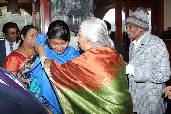 Collector, Mrs. Innocent Divya visits  the Elderly of the Little Sisters of Poor at Balaclava, Coono