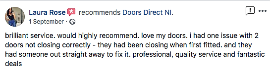 Satisfied customer review