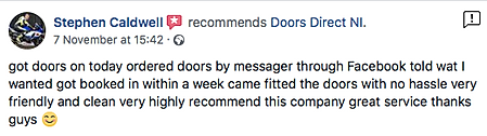 FB review for Doors Direct