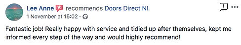Excellent review doors direct ni