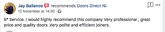 5 star review doors direct ni