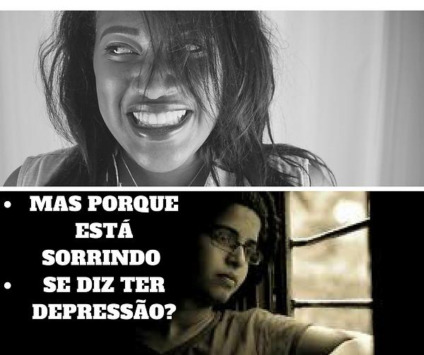 Mas porque está sorrindo se diz ter depressão?