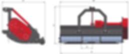 Triturador de galhos, martelos, triturador pesado, triturador leve, triturador articulado, triturador florestal, cardan, triturador restos de poda, triturador frontal, triturador hidráulico, triturador para limpeza de estradas, triturador sobre esteiras.