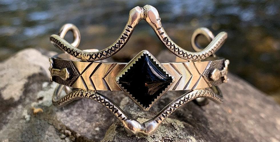 Snake and Dagger Cuff Bracelet