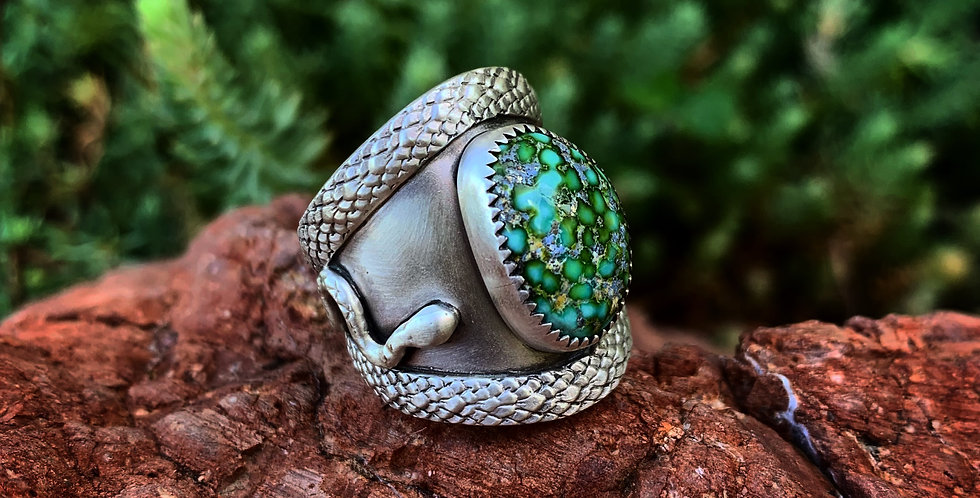 Adjustable Cigar Band with Sonoran Turquoise