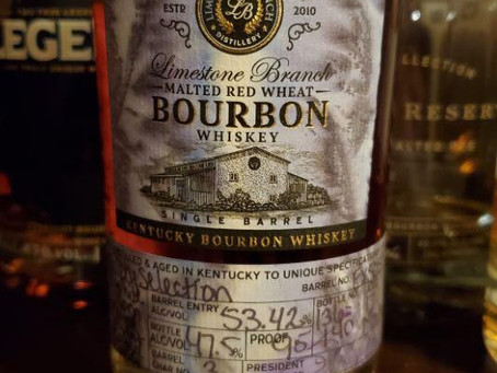Review #89 Limestone Branch Malted Red Wheat: Bourbon
