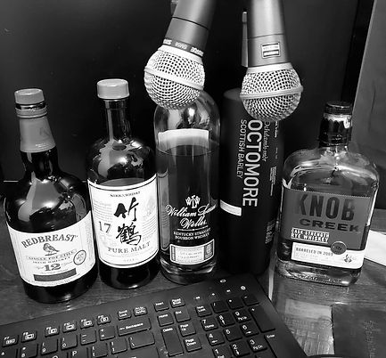 Whiskey podcast setup