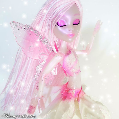 Crystal Pink Fairy. White Fairy.