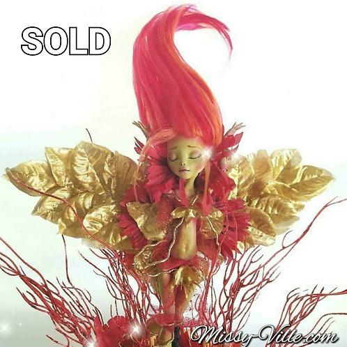 Ooak ~ Fire Flame Dancer Fairy Sprite