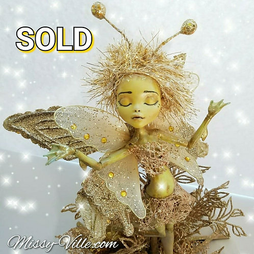 Ooak Custom Golden Sunrise Fairy