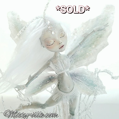 Ooak ~ Wind Dancer. Air. Ice. Pixie Fairy Sprite