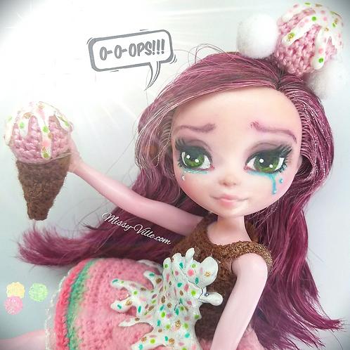 """*ooak* Custom Repaint """"Oopsie-Scoopsie"""" Ice Cream Cone"""