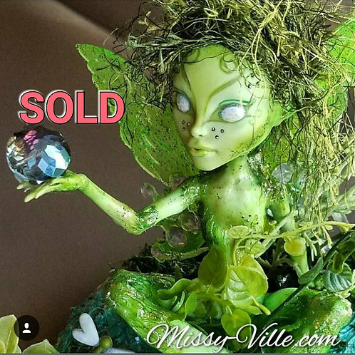 Ooak ~ Nature Earth Fairy Sprite (Green)