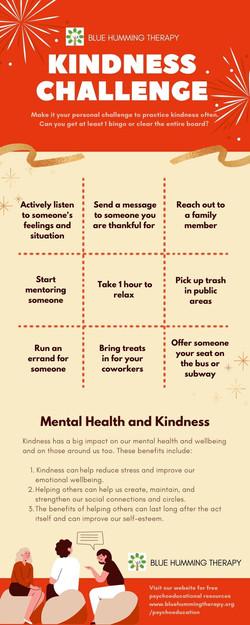 kindness challenge infographics