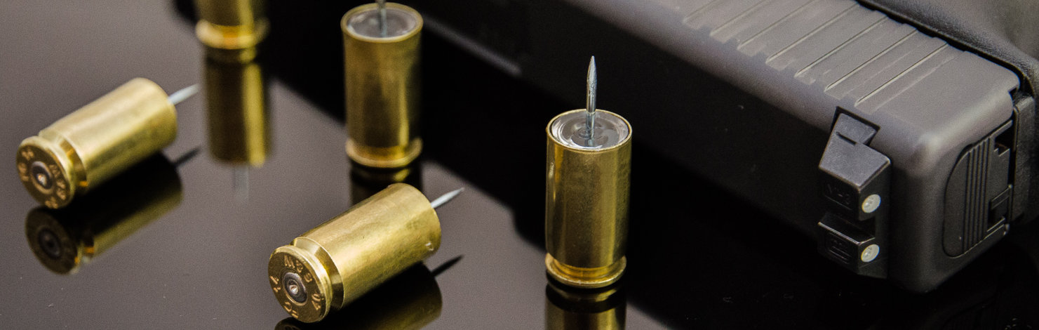 Bullet Push Pins With Glock 19