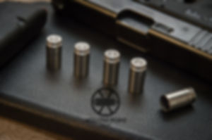 Hollow-Point Gear Bullet Valve Caps in Silver