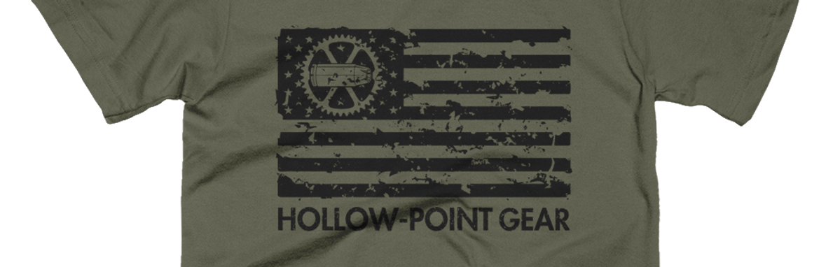 Military-inspired apparel. Tactical flag t-shirt