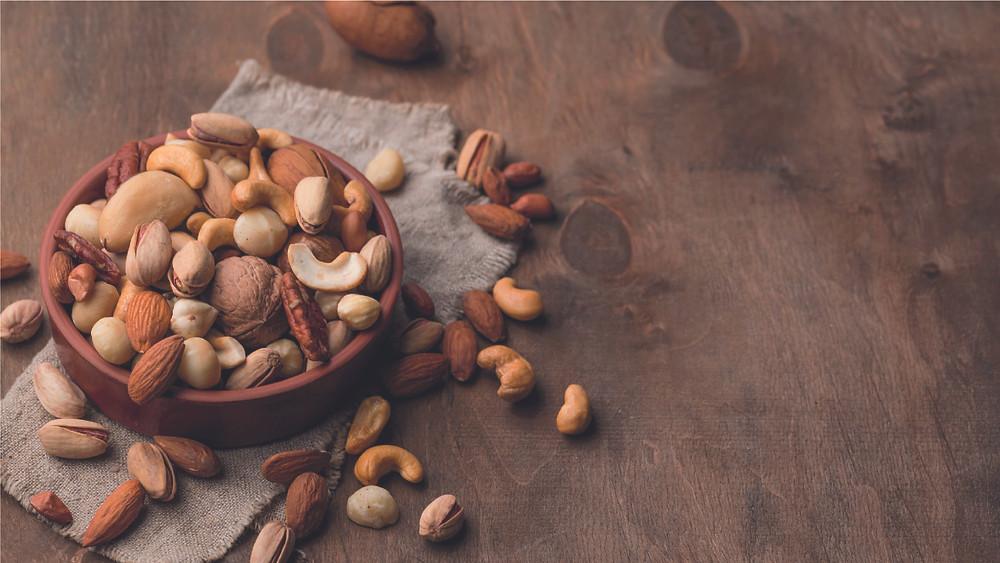 ถั่วเมล็ดแห้งและถั่วเปลือกแข็ง