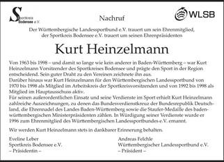 Nachruf für Kurt Heinzelmann