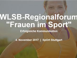 """Regionalforum """"Frauen im Sport"""" Anmedeschluss 23.10.2017"""