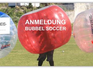 Anmeldung zum Bubble-Soccer auf der IBO 2019