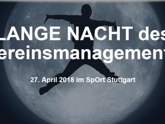 Bildungsabend für Ehrenamtliche aus dem Sport am 27.04.2018