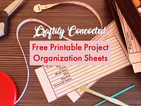 Free Printable for Crochet and Knit Project Organization