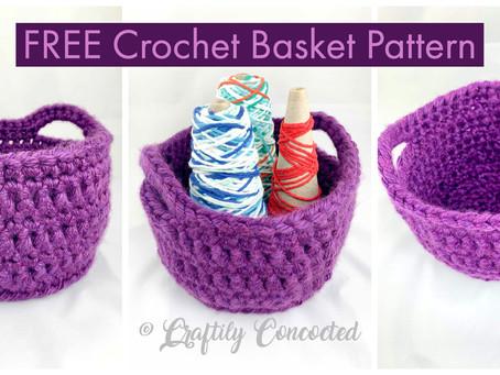 FREE Crochet Pattern - Crochet Basket