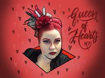 Queen of Hearts Doodles