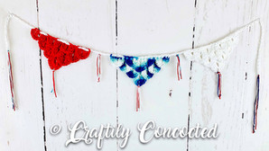 Patriotic Crochet Bunting - FREE PATTERN