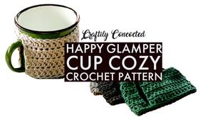 Free Crochet Pattern - Happy Glamper Mug Cozy