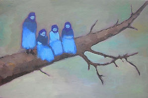 Bluebirds 2007 Oil on canvas 60x35cms lo
