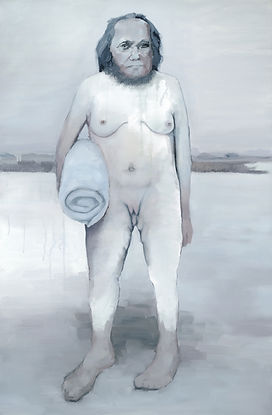 The Bather  2013 Oil on canvas  100x67 c