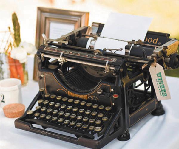 vintage - maquina de escrever