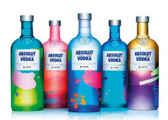 Embalagem da Vodka Absolut