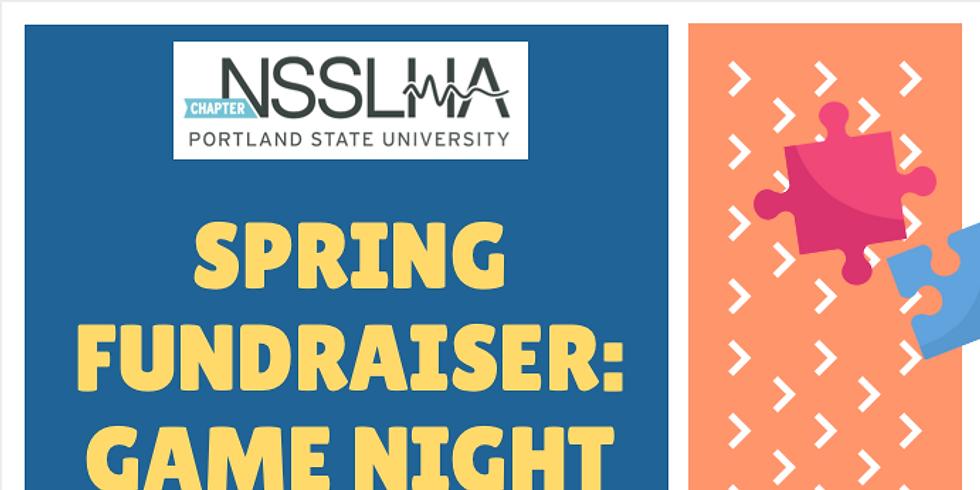 NSSLHA Spring FUNdraiser: Game Night