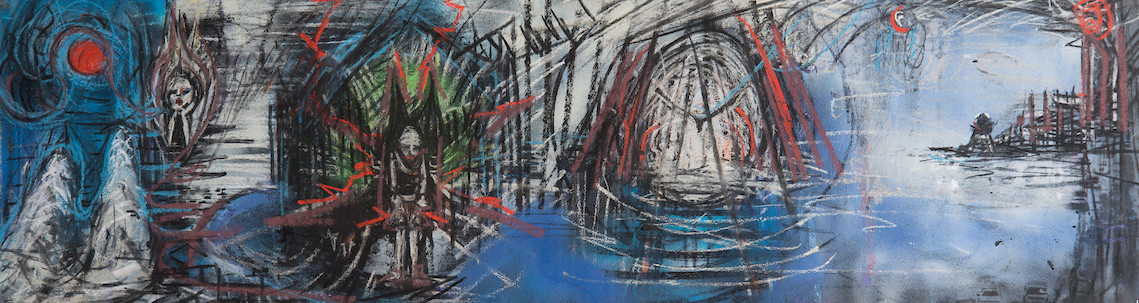 Untitled_12inx57in_charcoal, pastel, spray paint on canvas_2017.jpg
