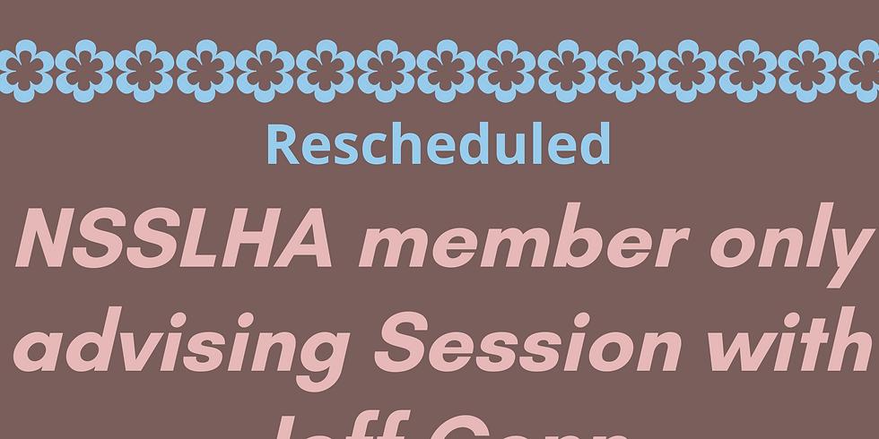 NSSLHA Member Advising Session with Dr. Conn