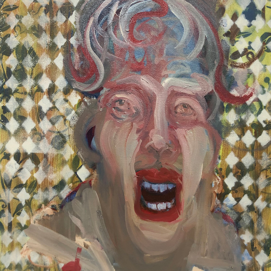 Chuckles...Ode to Mathew Barney_2019_20 x16in_oil