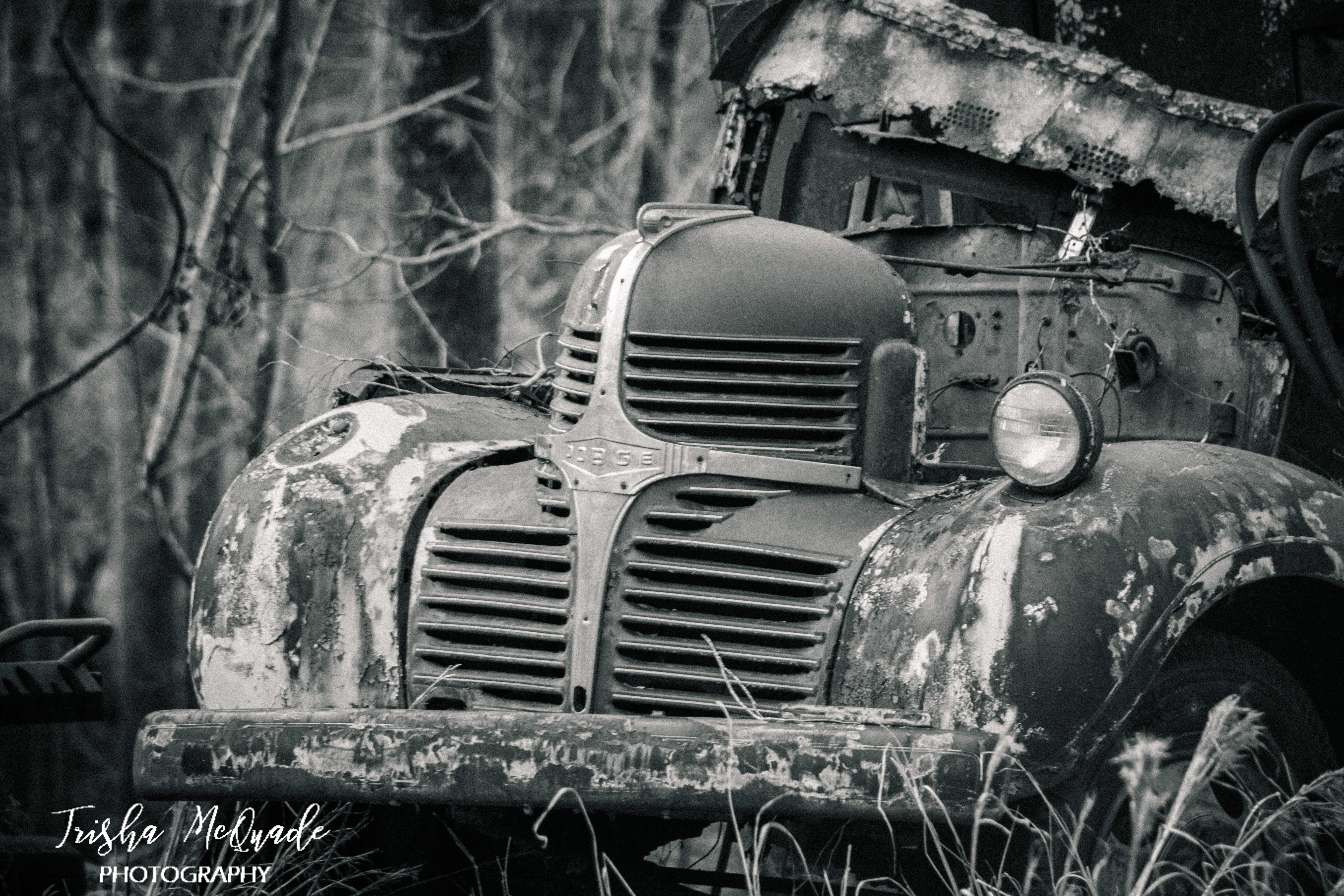 B&W Abandoned Truck