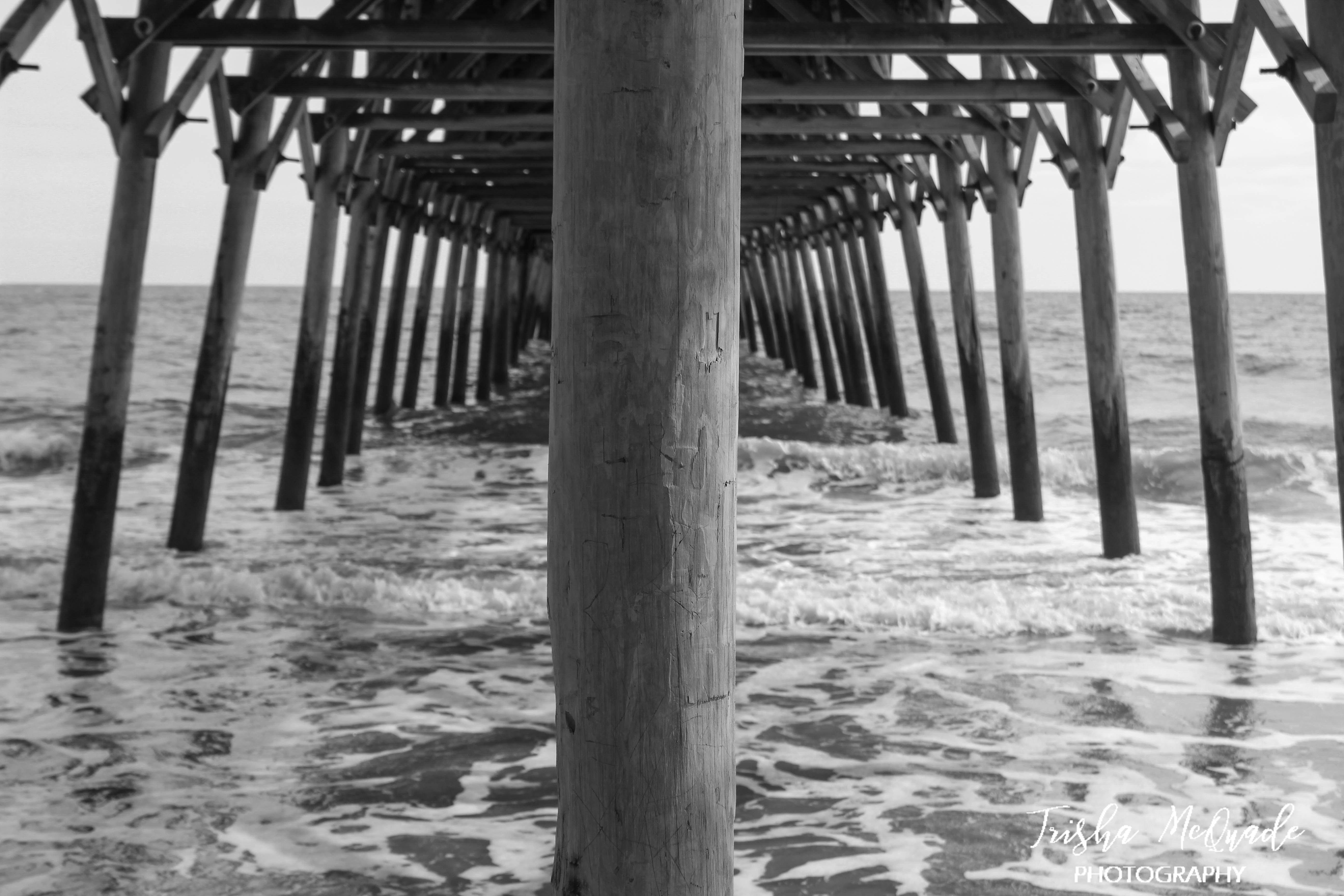 B&W Pier Shot