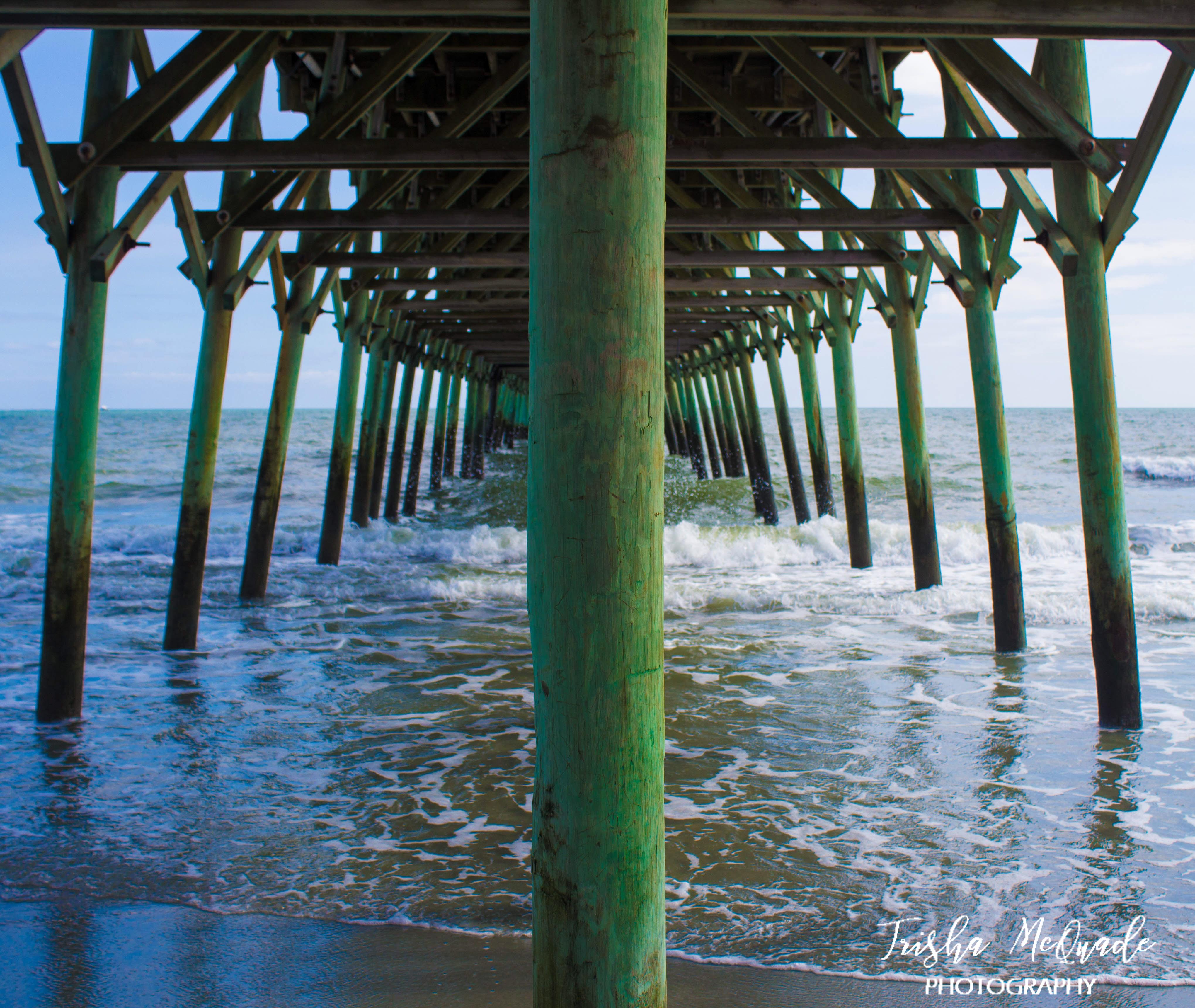 Vibrant Green Pier