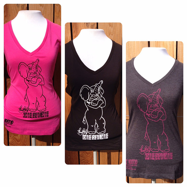 Ladies King Tusk V-Neck