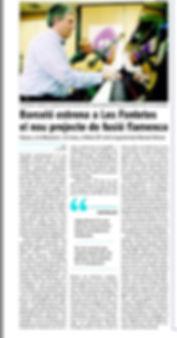 LATIN STRIDE FLAMENCO articulo Diari Bon Dia 2 febrero 2016