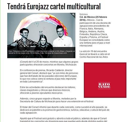 LATIN STRIDE FLAMENCO Articulo Diario la Reforma