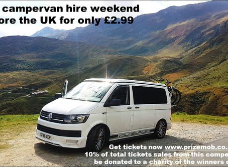 Win weekend campervan hire £2.99