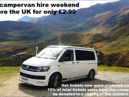 Win weekend campervan hire £2.99
